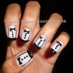 How to do tuxedo nails