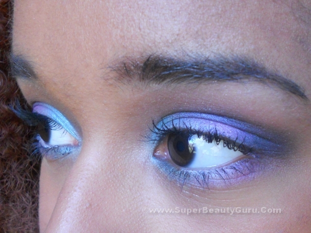 Spring and Summer colorful eye makeup