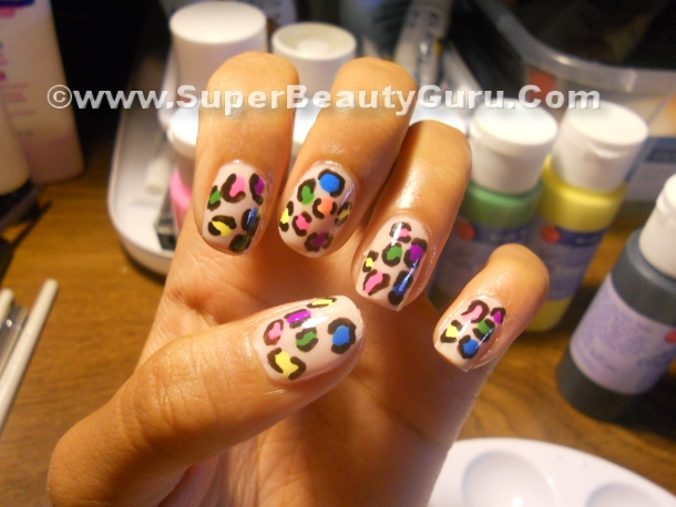 Colorful Leopard Print Nail Tutorial