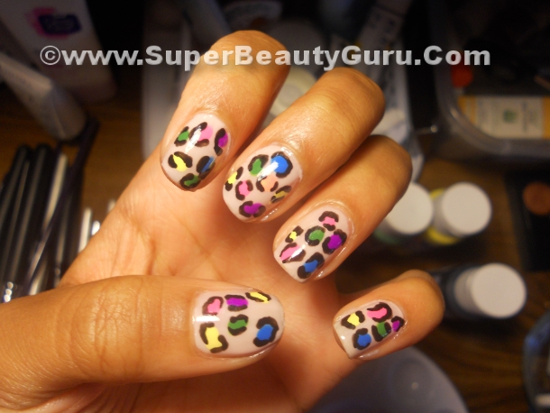 Colorful Leopard Print Nails