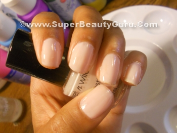 Light pale pink nailpolish