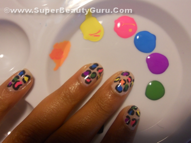 Colorful Leopard Print Nail Tutorial How To Paint A Leopard Print