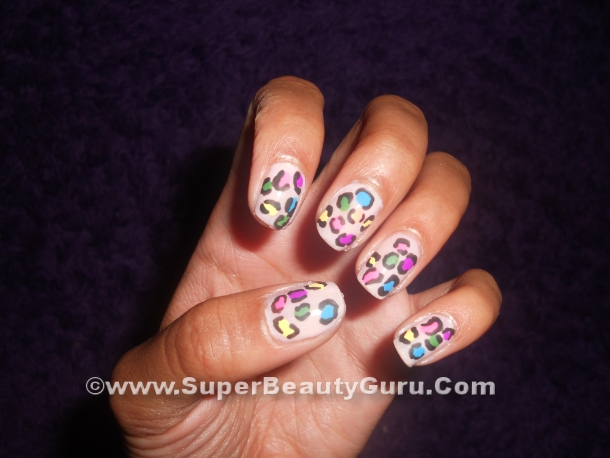 simple leopard print nail tutorial