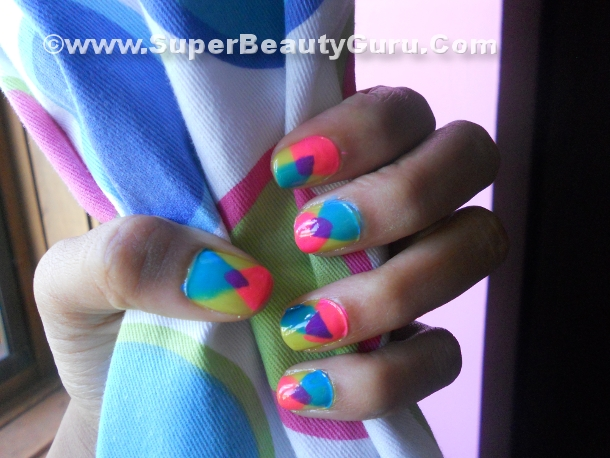 Overlapping Triangle Nail Tuorial
