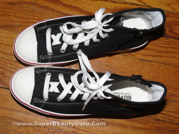 black and white platfrm sneakers