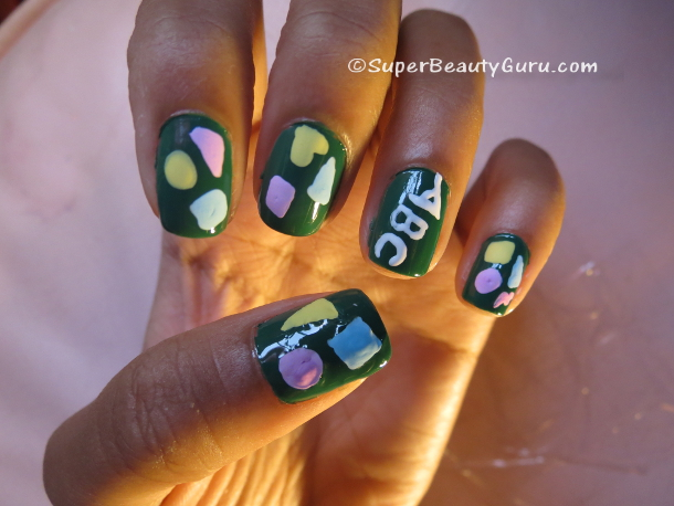 Acrylic Paint Nail Designs