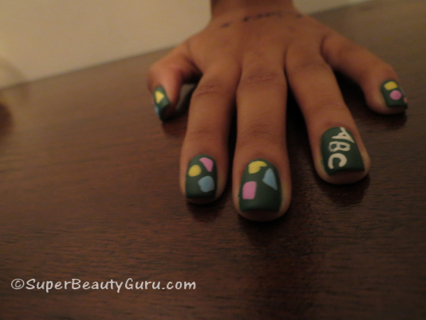 Back to School Nail Tutorial