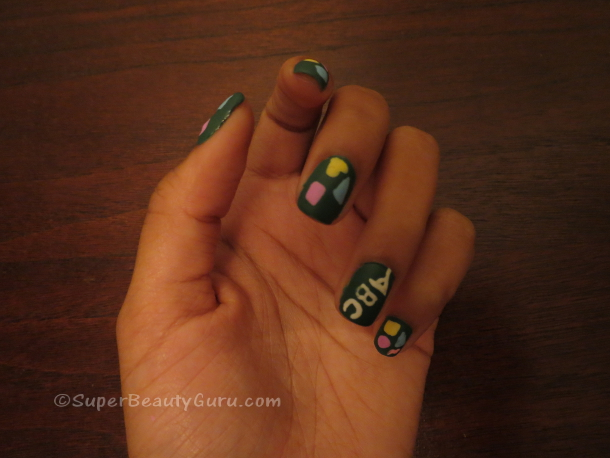 Back to school Chalkboard Nails