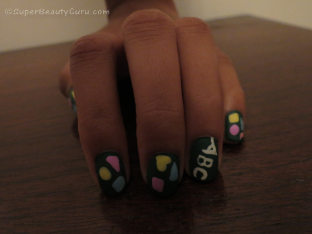 Back to school Chalkboard nail tutorial