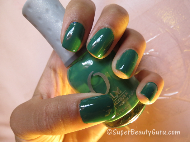 Green Chalkboard Nail Polish Color