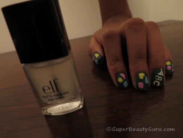 Matte Chalkboard Nails