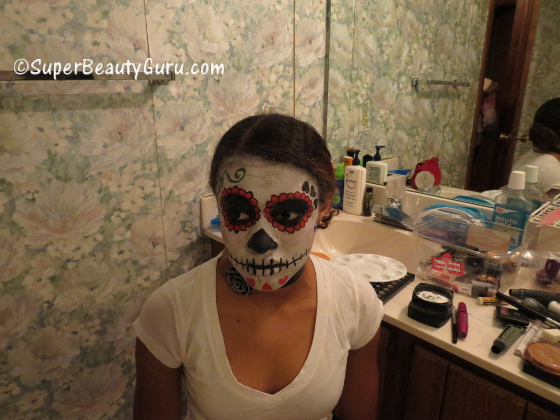 How to Paint Yourself to Look Like a Sugar Skull