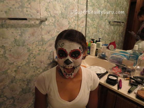 Scary Sugar Skull Makeup Tutorial
