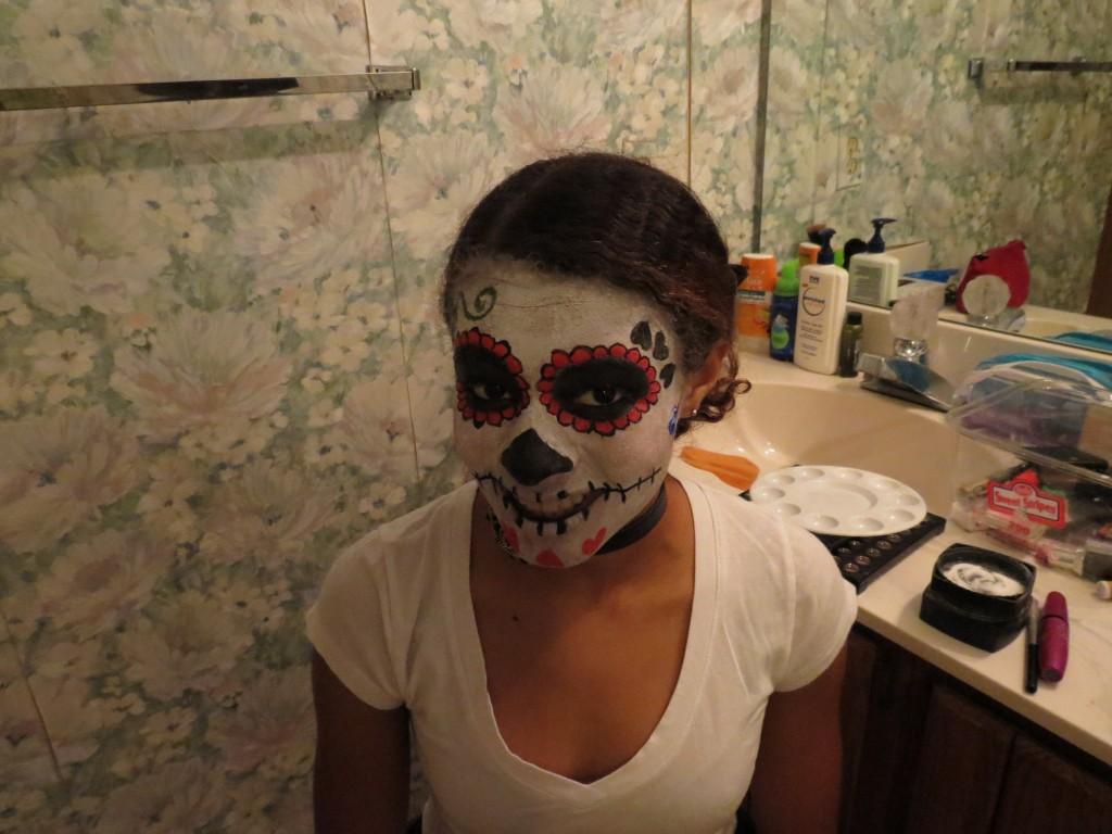 Sugar Skull Makeup Costume