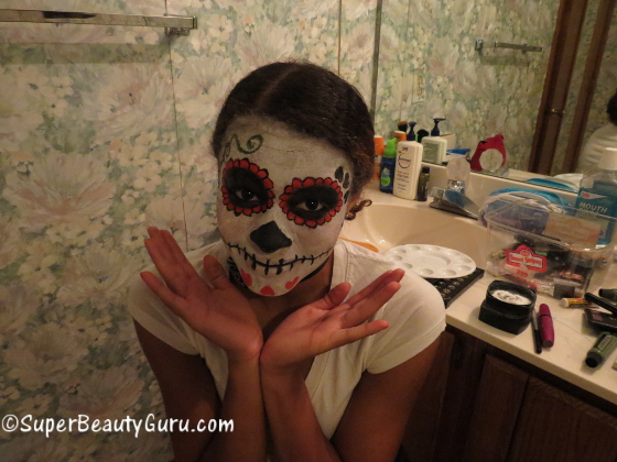 Sugar Skull Day Of The Dead Makeup Tutorial Dia De Los Muertos - Day-of-the-dead-makeup-tutorial-video