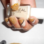 Gold glittery sparkly nails and tutorial
