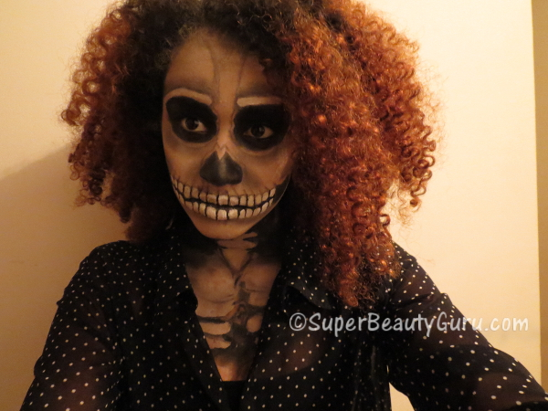 Realistic Skeleton Makeup