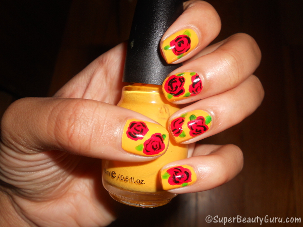 How to Create a Simple Rose Nail Design on Your Nails (Easy)