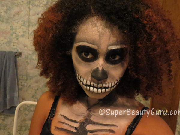 scary skull makeup tutorial