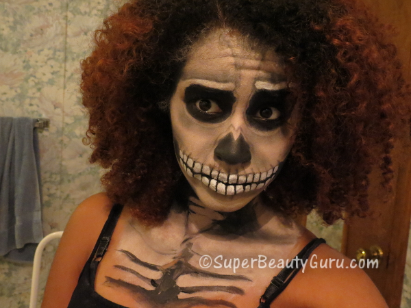 skeleton body makeup