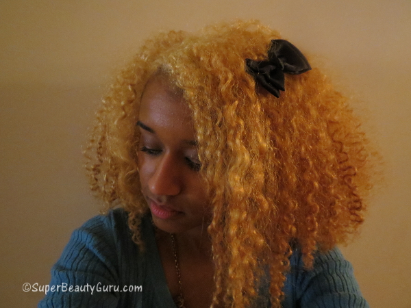 Amber Johnson with blonde hair