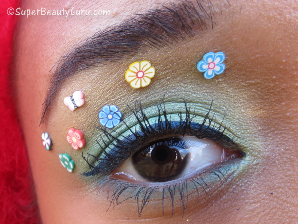 Crazy Eye Makeup with Fimo Flowers