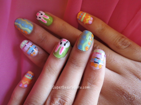 Cute Colorful Easter Nails