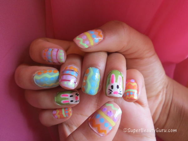 Easter Nail Tutorial Eggs And The Easter Bunny Offbeat