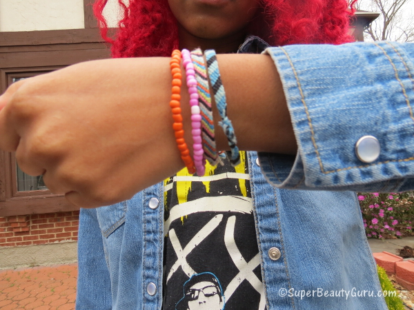 colorful bracelets diy spring fashion
