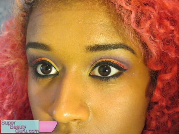 how to apply colorful eye makeup