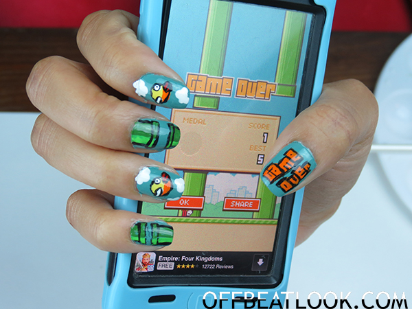 Flappy Bird Nail Tutorial Video