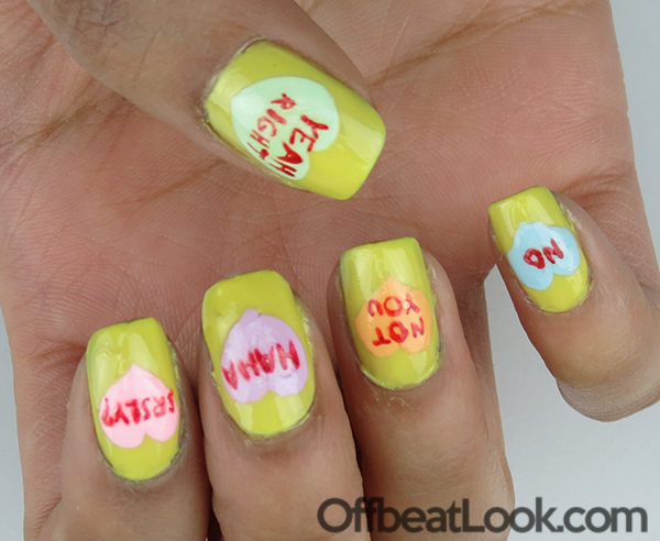 Anti Valentines Day nail tutorial