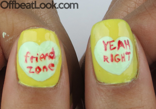 funny valentines day nails