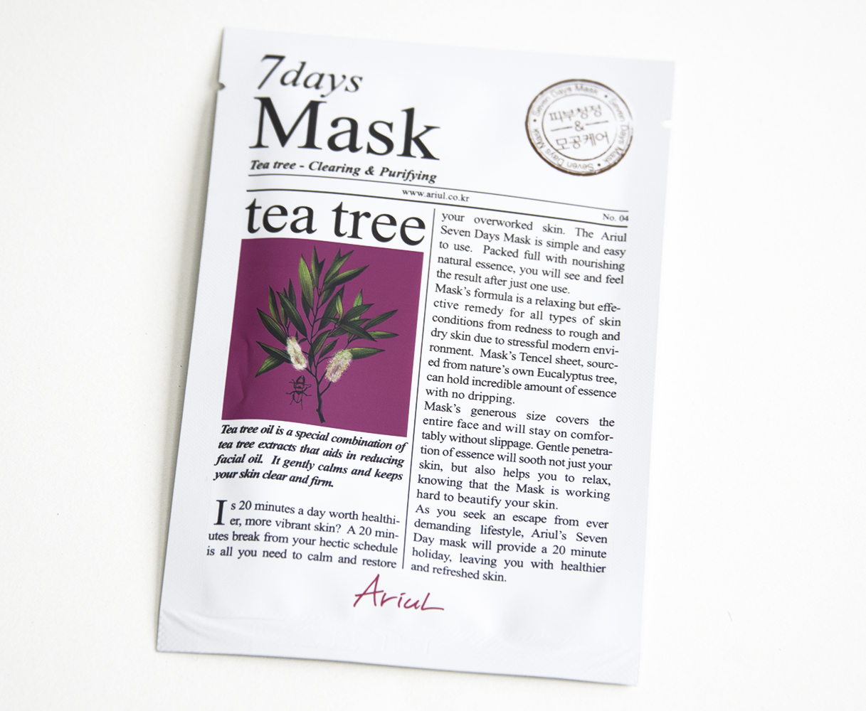 7 Days Mask Tea Tree